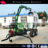 tractor towable self power gasoline engine log loader trailer with crane/ATV log trailer