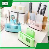 Kitchen accessories multipurpose plastic chopping board pot pan cover lid flatware knife storage rack holder