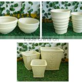 New Style Polystone Planters, Light Cement Pottery, GRC, Garden Decoration Products