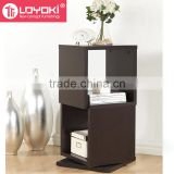 home furniture wood cube organizer 2-Level Rotating Modern Bookshelf new design wood bookcase