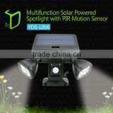 Yardshow Outdoor Spotlight Wall Light Solar Garden motion sensor light