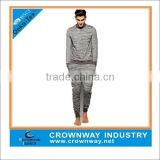 custom made crew neck cotton french terry jogging suit for young men