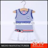 MGOO Brand Design Cotton Knitted Little Baby Garment Dress Wholesale Vestidos De Noche Dresses CS006