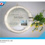 White Alligator Pattern Steering Wheel Cover