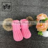 Wholesale 0-3-6-12 Month Kids Footwear Handmade Booties Plush Shoes Baby Bootie