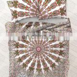 Indian Mandala Decor Queen Size Quilt Cover Duvet Donna Cover With Two Pillow Cover Throw