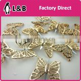 Fashion plastic lady shoe decorative butterfly pattern shoes ornament