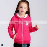 T-GH501 Custom Embroidery Winter Fleece Fur Hood Girls Zipper Hoodies