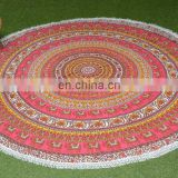 Custom High Quality Luxury Round Tablecloth Multi Colorful Cotton Table Cover