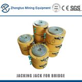 Flat Jack Lock Nut Cylinder|A portable hydraulic jacking jack for bridge replacement rubber production