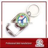 Various Customized Key Ring Type And OEM Souvenir Classical Custom Logo Metal Domed Bottle Opener
