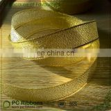 Sparkly gold glitter ribbon tape for luxury packing