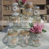 10 Pieces/ set Wedding Table Decorated Glass Jars Vases
