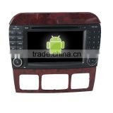 Kaier Factory directly !android 4.4 car dvd player for Benz S +OEM+DVR+Dual core +TPMS+Mirror link +OBD!