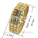 China supplier japanese blue light gold samurai led watch                                                                         Quality Choice