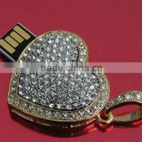 crystal USB Flash Drive Heart shape USB