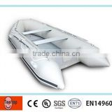 Modern appearance OEM inflatable pontoon fishing paddle boat for amuse
