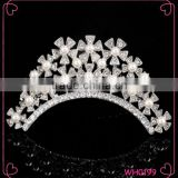 Elegant rhinestone crystal and pearl beauty sunflower crown wedding tiaras and crown