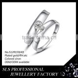 Fashion 925 silver rings couples breakable heart moroccan pair wedding rings