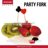 D598 Poker Theme Party Items as Fruit Fork sets and Cocktail Picks