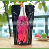 Wholesale Custom Printed Stand Up Pouch/ square bottom Beverage / juice Packaging Bag with Zip Lock                                                                         Quality Choice