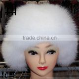 Factory wholesale price fox fur cap/fur cap/fox fur hat