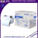 "White Recycle paper roll towel, roll diameter 8"", 800 feet, 6 roll per case from direct manufacturer"