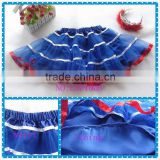 American July 4th ribbon tutus,factory supply children puffy tulle skirt, baby girls US Independence Day pettiskirt