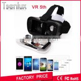 2016 New products portable 5nd generation 3D VR BOX 5 Virtual Reality 3D Glasses for blue film video open sex
