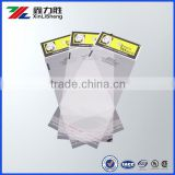 self-adhensive seal bopp clear plastic header bag