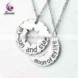 Jenia My Sun and Stars 18K Gold Pltaed Custom Pendant Kids Necklace