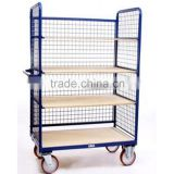 4 Wheels cage trolley with shelving