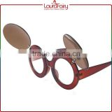 Laura Fairy New China Fashion High Quality Red Frame Wholesale Custom Plastic Sunglasses