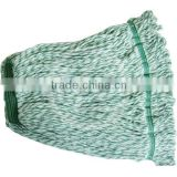 new cotton wet mop heads in white and green color