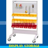 Reliable easy-to-use workbench metal pegboard shelf for multipurpose