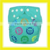 Hot Promotion Product Bros Baby Lion Icon Design Minky Fiber Waterproof Blue Cloth Diaper