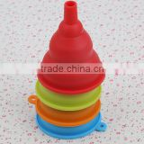 New design coloful silicone foldable funnel for food grade                                                                                                         Supplier's Choice
