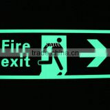 luminous fire exit safety signs/glow safety signs in construction/fire extinguisher signs printable