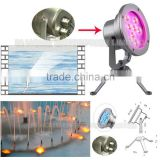 High quality 9W RGB 316 stainless steel waterproof led underwater light for Pool/fountain/garden