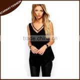 New Sexy Women ladies gauze fancy sleeveless tops/