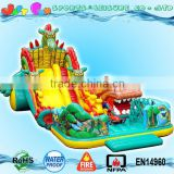 Russia model attraction giant dragon inflatable slides trampolines figures China made