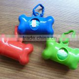 Promotional very useful and cheap bone shape pet waste bag dispenser