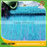[NTSUNRISING]Luxe rayon 8CM 100% polyester polish blue tassel fringe trimming for dancing dress,curtain
