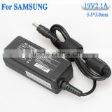 Notebook computer adapter Manufacturer wholesale high quality 19v2.1a ac dc battery power charger for samsung tip 5.5x3.0