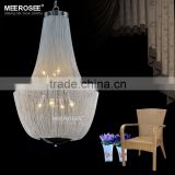 Wholesale Chandelier Crystal Prisms, Factory Lighting Silver Aluminum Pendant Chandelier MD26018