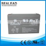 portable agm solar street alarm battery bank 6v 7ah ups sealed lead acid battery