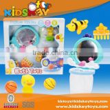 Hot selling Safety material tub toys series baby animals rubber yellow duck bath toy