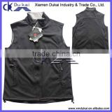 Men's softshell vest, men's bonded polar fleece vest, sleeveless jacket