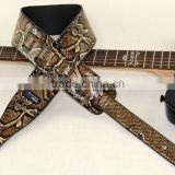 2015 NEW Snakeskin brand guitar strap, widening, folk guitar straps, electric guitar, electric bass strap