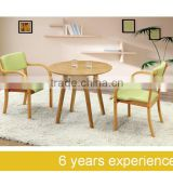 Solid wood stackable chair dining kitchen cafe chair and solid wood table type Made in China